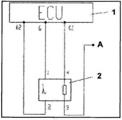 Схема подключения переднего