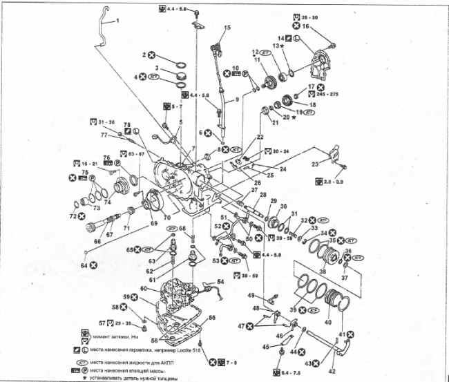 АКПП RE4F03B и ее компоненты