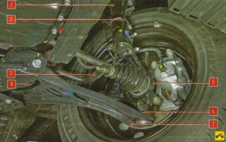 Киа спектра схема передней подвески.