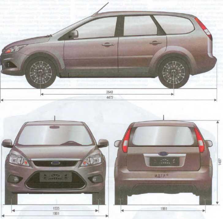 ford focus 2 размеры кузова