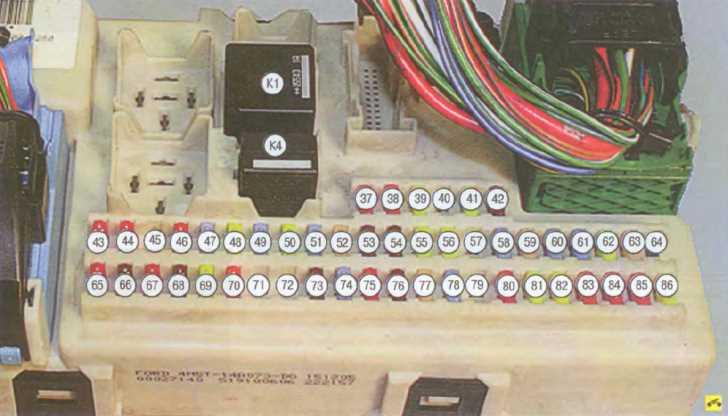 Схема реле форд фокус фото 453