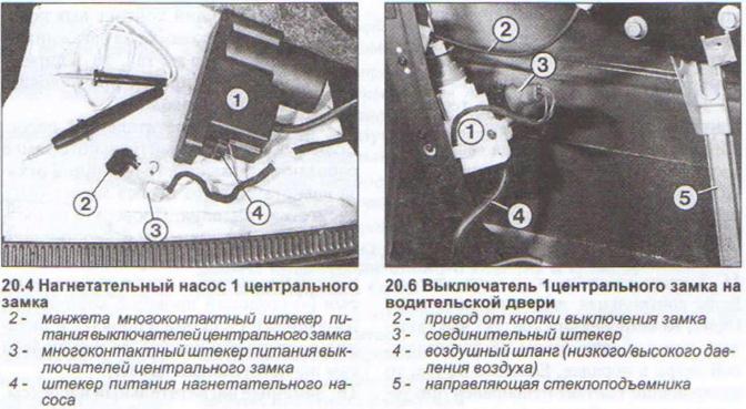 как найти провод от компрессора открывания дверей audi 80 b3