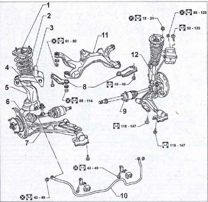 верхний рычаг передней подвески nissan primera p11