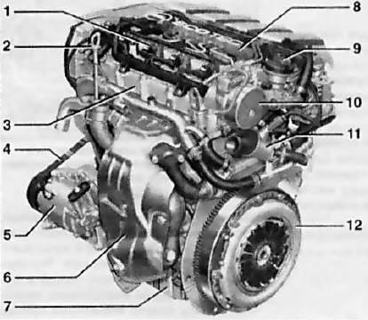 Двигатель z13dth схема
