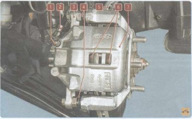 Тормозная система Kia Rio 2 (JB)