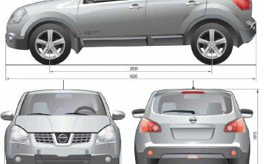 Технические характеристики Nissan Qashqai c 2007 г.в., и Qashqai+2 c 2008 г.в.