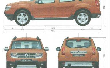 Технические характеристики Renault Duster с 2010 г.в.