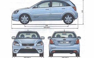 Технические характеристики Kia Rio 2 2005 - 2011 гг.