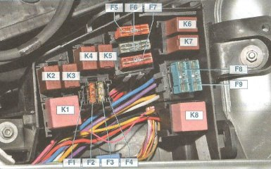 Предохранители и реле Nissan Almera G15