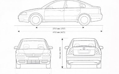 Технические характеристики Volkswagen Passat B5