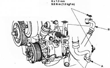 Замена компрессора кондиционера Honda CR-V 3