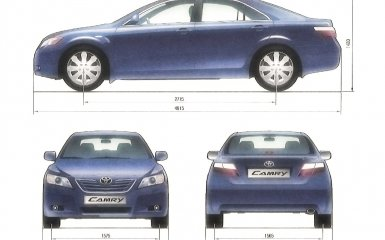 Технические характеристики Toyota Camry (XV40)