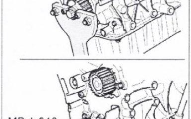 Замена переднего уплотнительного фланца на VW Passat B5
