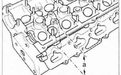 Проверка высоты головки блока цилиндров и размера клапанов Volkswagen Passat B5