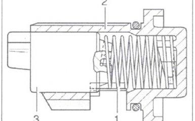 Механизм блокировки передачи заднего хода МКП 01W/012 VW Passat B5