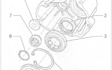 Ремонт крышки коробки передач 01Е/0А1 на VW Passat B5