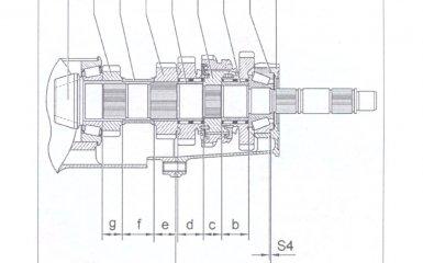 Определение толщины регулировочной шайбы S4 коробки передач 01Е/0А1 на VW Passat B5