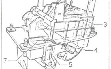 Снятие и установка электромагнита блокировки рычага селектора АКПП 01V на VW Passat B5 GP