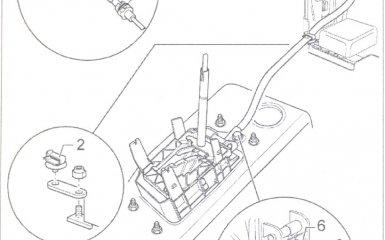 Снятие, установка и регулировка троса блокировки замка зажигания АКПП 01V на VW Passat B5 GP