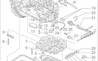 Снятие и установка узла клапанов/золотниковой коробки АКПП 01V на VW Passat B5 GP