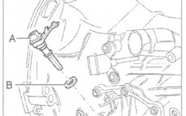Замена датчика спидометра и ротора датчика МКП 01W/012 на VW Passat B5