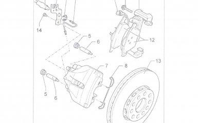 Замена тормозных колодок переднего тормозного механизма Volkswagen Passat B5 GP