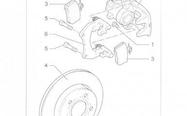 Замена задних тормозных колодок Volkswagen Passat B5 GP