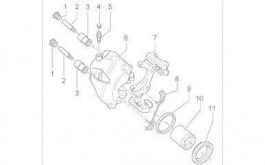 Замена поршня суппорта передних тормозов Volkswagen Passat B5 GP