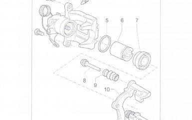 Замена поршня суппорта задних тормозов Volkswagen Passat B5 GP