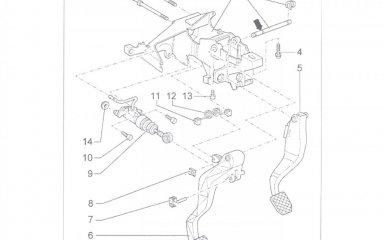 Снятие и установка педали тормоза и педального узла Volkswagen Passat B5 GP (2000 - 2005)