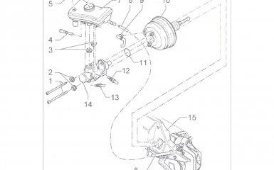 Замена вакуумного усилителя с главным тормозным цилиндром Volkswagen Passat B5 GP