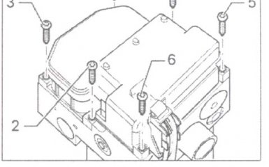 Разборка и сборка модулятора ABS на VW Passat B5