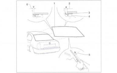 Замена заднего стекла на VW Passat B5