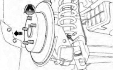 Замена задних тормозных дисков Geely Emgrand EC7
