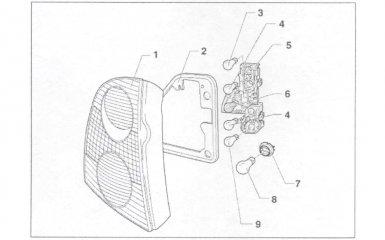 Замена задних комбинированных фонарей VW Passat B5