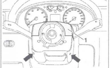 Замена подрулевых переключателей VW Passat B5