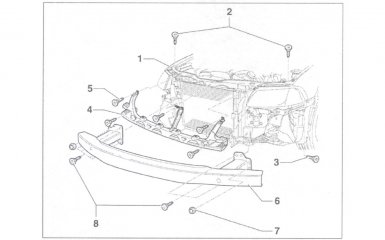 Замена передней балки моторного отсека VW Passat B5