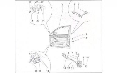 Замена передней двери VW Passat B5