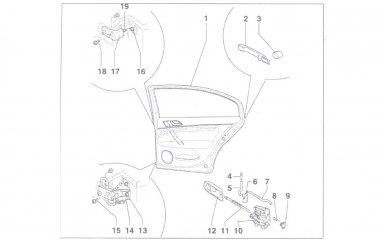 Замена задней двери VW Passat B5, 2000 - 2005 г.в.