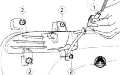 Замена заднего противотуманного фонаря Geely Emgrand EC7 седан