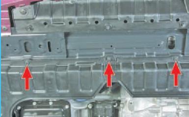 Снятие брызговика двигателя Hyundai Solaris (RB), 2010 - 2017 г.в.