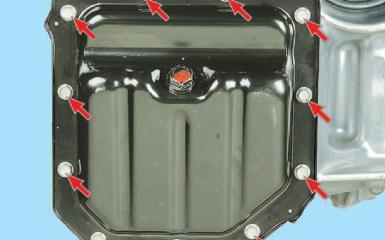 Замена уплотнения поддона масляного картера Hyundai Solaris (RB), 2010 - 2017 г.в.