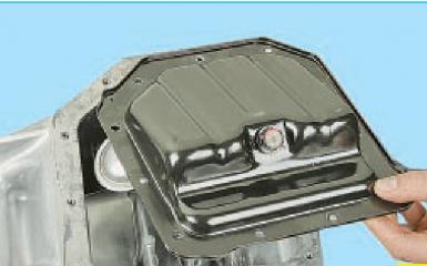 Снятие масляного картера Hyundai Solaris (RB), 2010 - 2017 г.в.