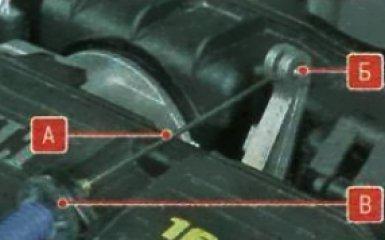 Регулировка и замена троса привода дроссельной заслонки двигателя К4М Renault Duster, 2010 - 2015 г.в.