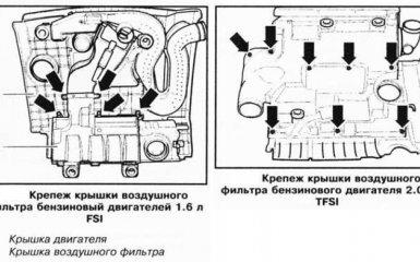 Замена воздушного фильтра VW Passat B6