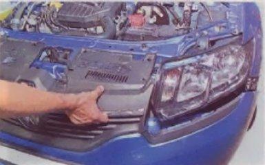 Замене блок фары на Renault Logan 2