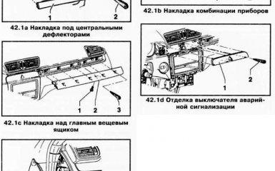 Замена накладок панели приборов VW Passat B6