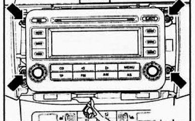 Замена штатной магнитолы VW Passat B6