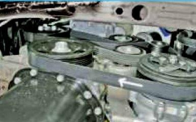 Замена ремня генератора и агрегатов на VW Polo sedan
