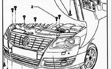 Замена переднего бампера на VW Passat B6